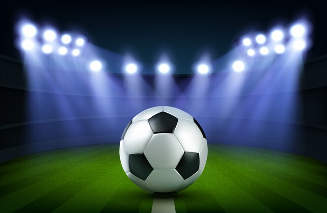 Bola de futebol no estádio
