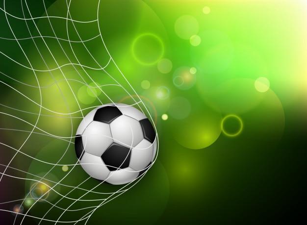 Bola de futebol no gol