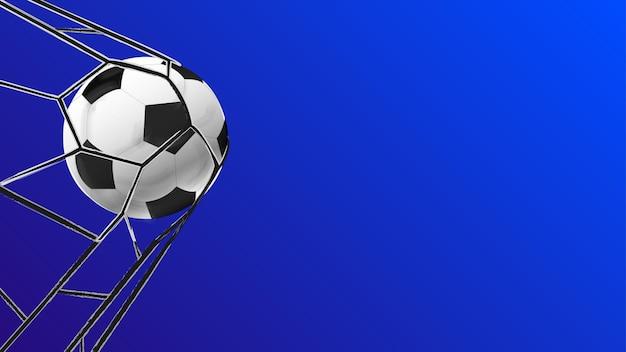 Bola de futebol pontuação atividade esportiva a bola está na meta vetor de modelo