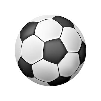 Bola de futebol realista isolada de vetor sobre o branco