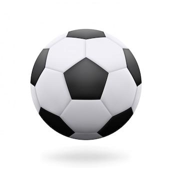 Bola de futebol realista isolada