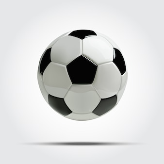 Bola de futebol realista ou bola de futebol.