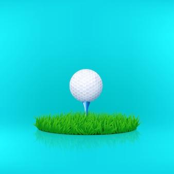 Bola de golfe branca 01