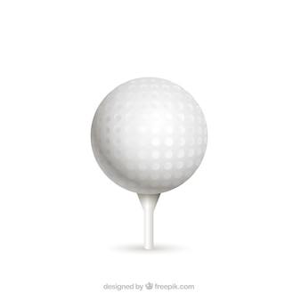Bola de golfe no tee em estilo realista