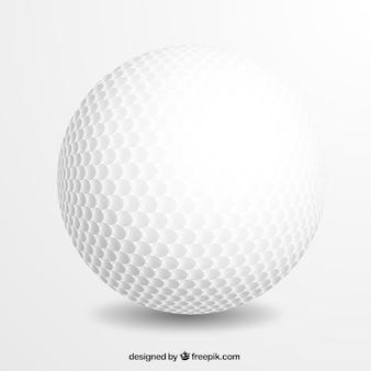 Bola de golfe realista
