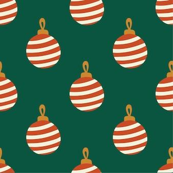 Bola de natal bola ornamento padrão de fundo redes sociais pós decoração de natal vector il