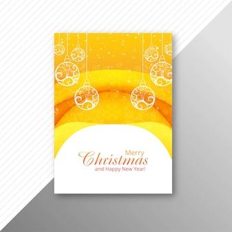 Bola de natal bonita brochura design vector