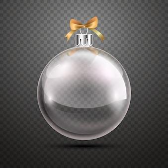 Bola de natal de cristal transparente