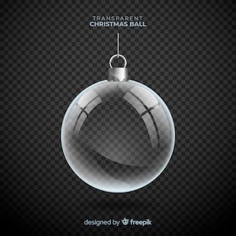Bola de natal transparente com estilo elegante