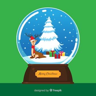 Bola de neve de natal com rena