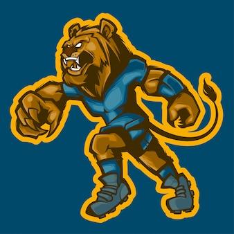 Bola de pé de leão correndo