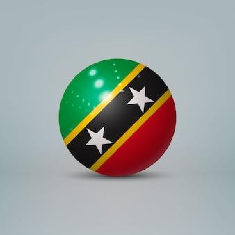 Bola de plástico brilhante realista com bandeira de são cristóvão