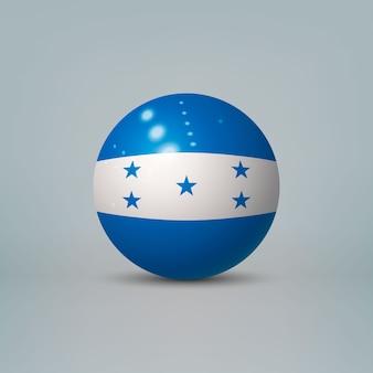 Bola de plástico brilhante realista com bandeira de