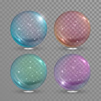 Bola de vidro com bolhas de ar dentro