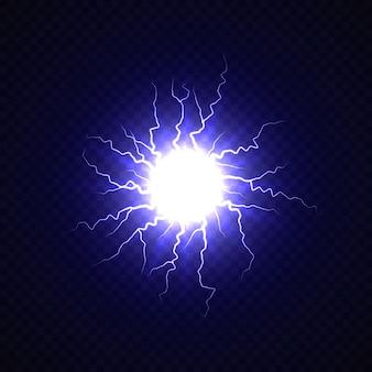 Bola elétrica com efeito relâmpago