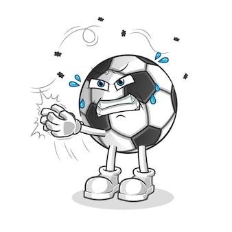 Bola golpeia o mascote do personagem de desenho animado