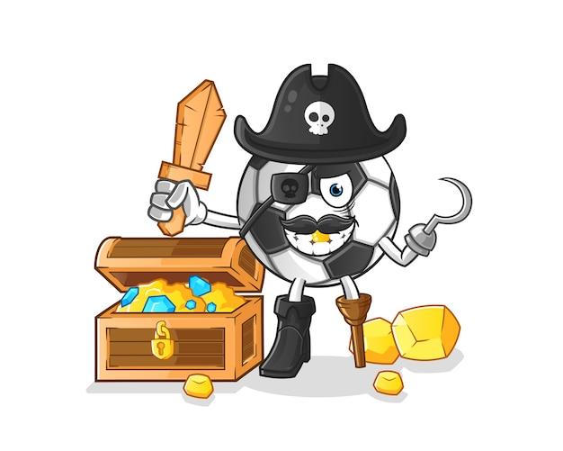 Bola pirata com desenho do mascote do tesouro