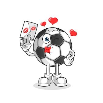Bola segura ilustração de carta de amor