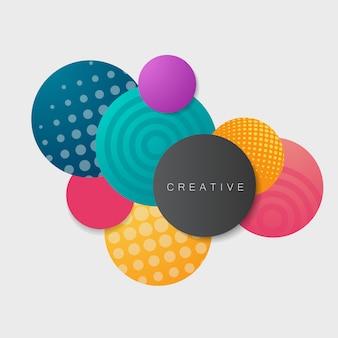 Bolas bonitas coloridas no fundo claro / projeto conceptual do vetor