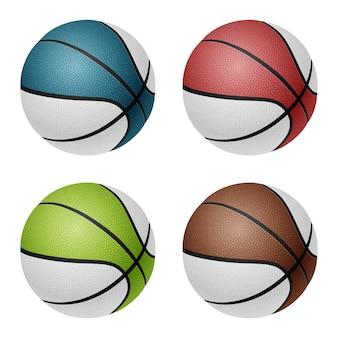 Bolas de basquete vetor