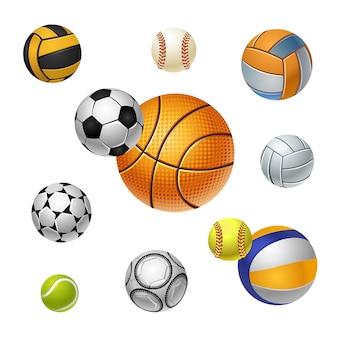 Bolas de esportes diferentes