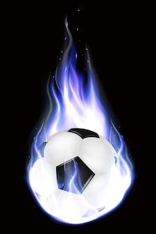 Bolas de futebol realistas voando