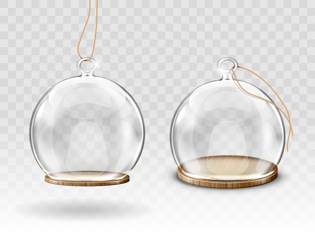 Bolas de natal de vidro, cúpula de suspensão para decoração