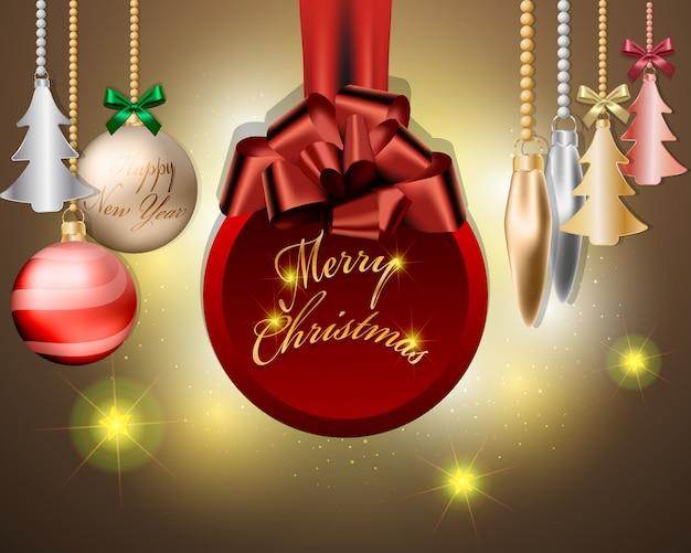 Bolas de natal e design de decorações