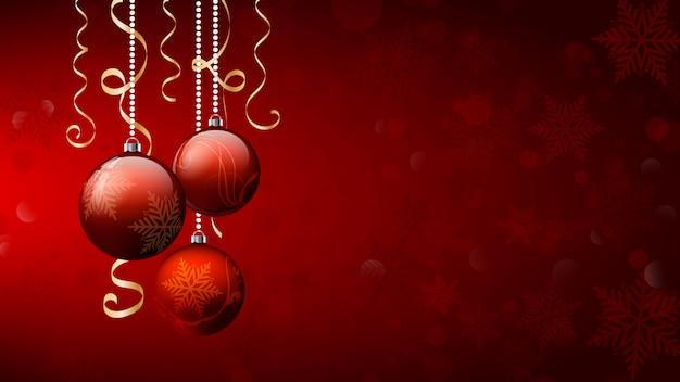 Bolas de natal fundo de natal. banner de feliz natal.
