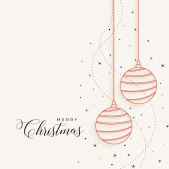 Bolas de natal pendurado elegante linha com estrelas