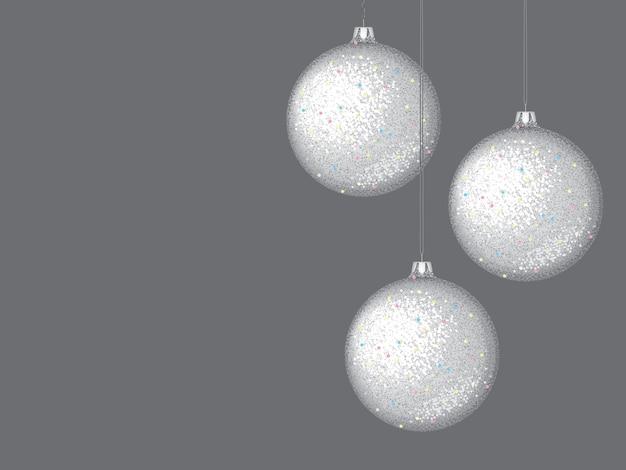 Bolas de vidro de ano novo em um fundo escuro