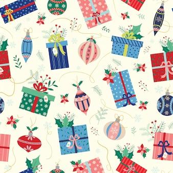 Bolas e presentes de natal