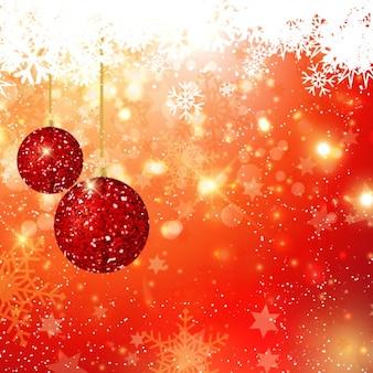Bolas glitter do natal no fundo do bokeh