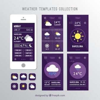 Boletim meteorológico com móbil