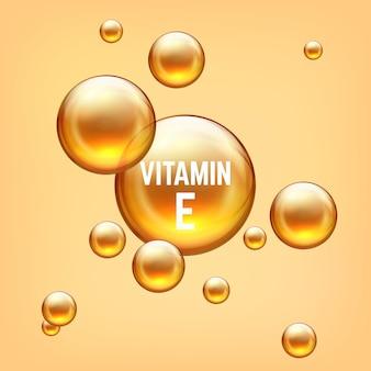 Bolha 3d realista de vitamina e