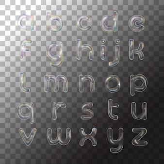 Bolha de alfabeto ilustração sabão transparente