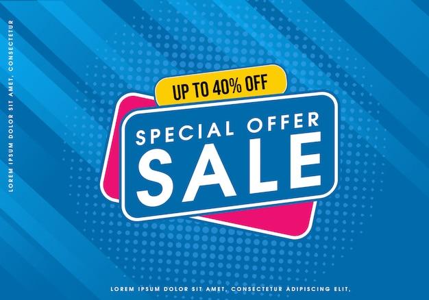 Bolha de venda de oferta especial