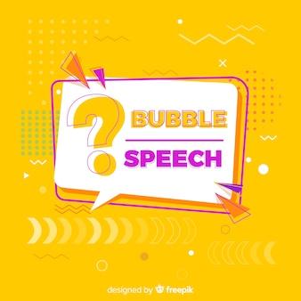 Bolha do discurso com ponto de interrogação