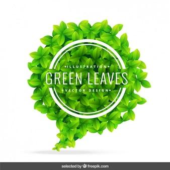 Bolha do discurso feito com folhas