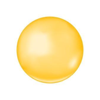 Bolha dourada brilhante colágeno gota de óleo cosmético de jojoba vitamina a ou e bola de ácido graxo ômega