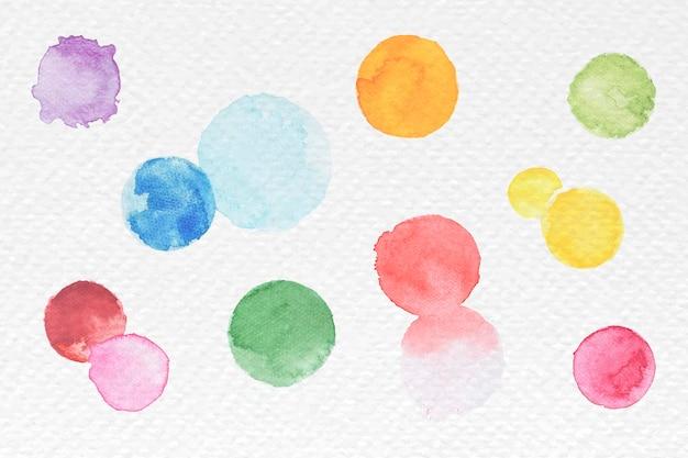 Bolhas coloridas de aquarela abstratas