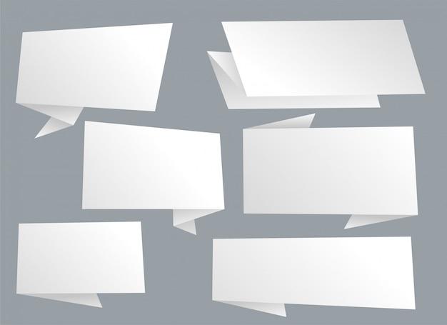 Bolhas de bate-papo vazio setof em branco