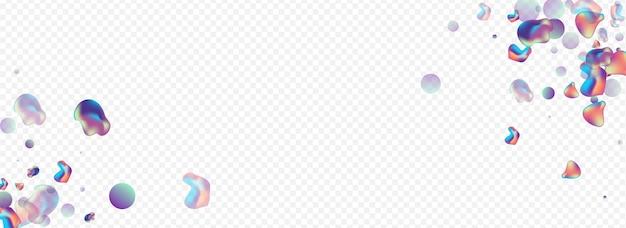 Bolhas de cor, fundo transparente panorâmico.