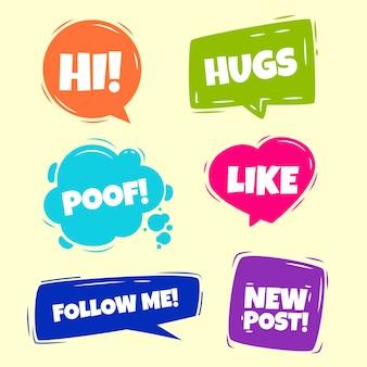 Bolhas de gíria de mídia social