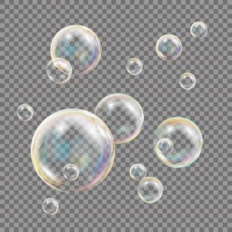 Bolhas de sabão transparentes