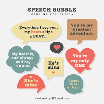 Bolhas do discurso com mensagens