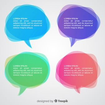 Bolhas do discurso confuso de gradiente