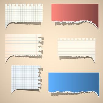 Bolhas do discurso de papel rasgado