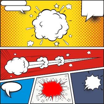 Bolhas do discurso de quadrinhos. elementos de design retro