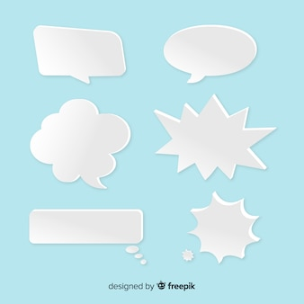 Bolhas do discurso em forma de multi em estilo de papel